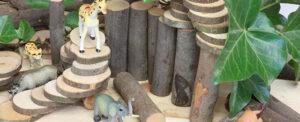 houtschijven voor bouwhoek