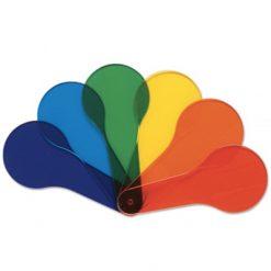 Transparante spatels gekleurd